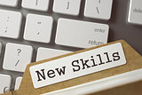Index Card - New Skills. 3d.