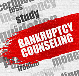 Bankruptcy Counseling on the White Brickwall.