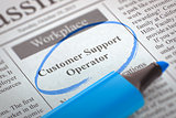 Customer Support Operator Wanted. 3d.