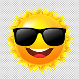 Yellow Sun With Sunglasses