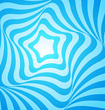 Abstract blue geometric design