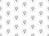 Vector Black Seamless Pattern with Diamonds