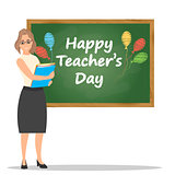 Happy teachers day vector illustration.