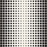 Vector seamless pattern. Repeating geometric tiles. Monochrome halftone grid. Simple shapes lattice