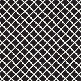 Vector Seamless Childlike Pattern. Monochrome Hand Drawn Geometric Shapes Texture