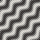 Wavy stripes vector seamless pattern. Retro wavy engraving texture. Geometric zigzag lines design.