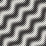 Wavy stripes vector seamless pattern. Retro wavy engraving texture. Geometric zigzag lines design.