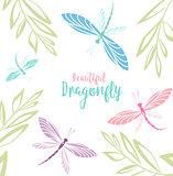 Dragonflies in flight