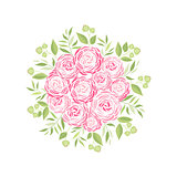 Vector ranunculus flower