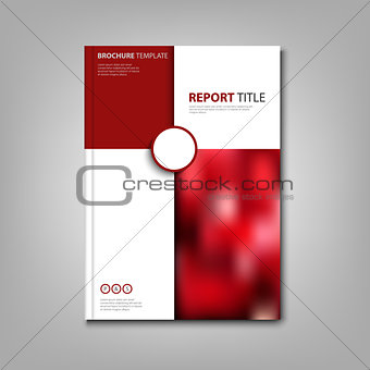 Brochures book or flyer with red and white pattern