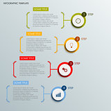 Info graphic with abstract round labels template