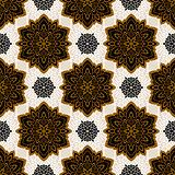 Mandala. Ethnic motifs vector seamless pattern