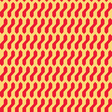 Seamless abstract geometric pattern with red and crem