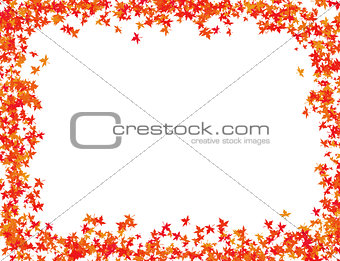 autumn leaves in red shades frame