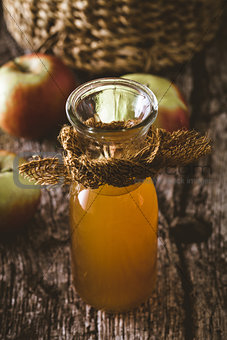 Apple vinegar on wood