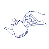 keep teapot in hand