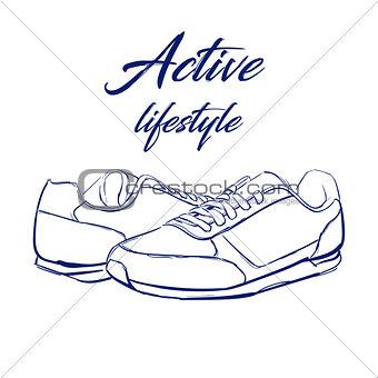 sketch running sneakers