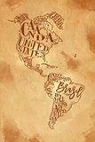 Map America vintage craft