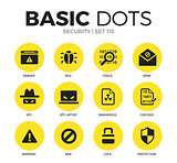 Security flat icons vector set
