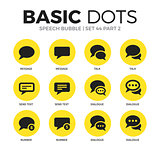 Speech bubble flat icons vector set