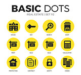 Real estate flat icons vector set