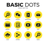 Web flat icons vector set