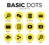 Web flat icons vector set