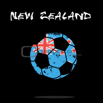 Flag of New Zealand as an abstract soccer ball