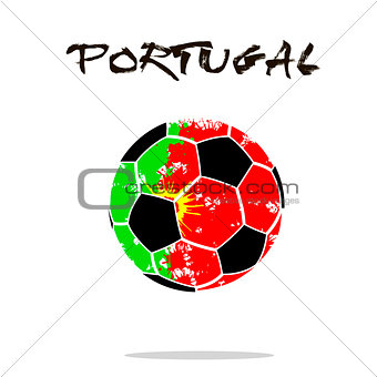 Flag of Portugal as an abstract soccer ball