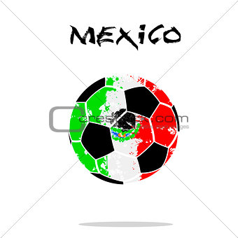 Flag of Mexico as an abstract soccer ball