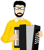 Man with accordeon
