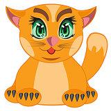 Cartoon redhead cat
