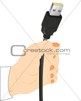 Cable in hand