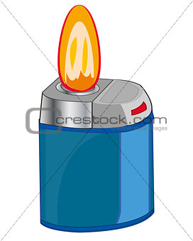 Cigarette lighter and flame