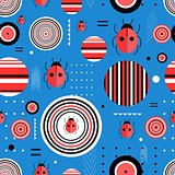 Pattern circles and ladybugs