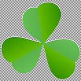 Leaf clover sign. Dark green icon on transparent background.