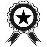 Award icon. Vector style is flat symbols.