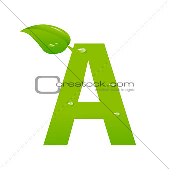 Green eco letter A