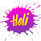Holi festival banner design. Vector background