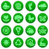 Eco green environment Icon Set