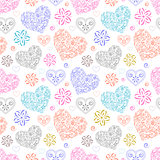 abstract colorful hearts