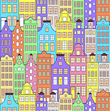 pattern with colorful building