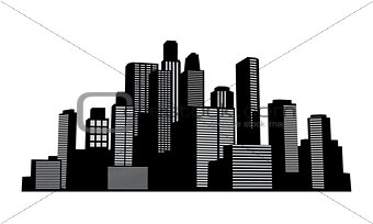 Black vector cityscapes silhouettes buildings