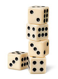 Stack of gaming dice
