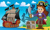 Pirate girl theme image 4