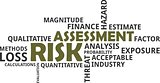 word cloud - risk assessment
