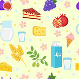 Shavuot seamless pattern backgraund. Vector illustration.