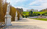 Schonbrunn Palace Gardens in Vienna
