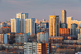 evening view of Yeakaterinburg, Russia