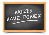 Blackboard Words Have Power